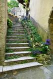 Escalier fleuri dans un village de Provence