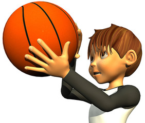 kid boy basketball