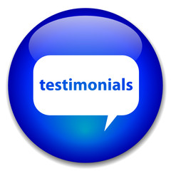 """TESTIMONIALS"" web button (marketing publicity business)"