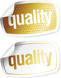 stickers for quality products with imitation of the hologram poster