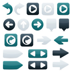 Directional Arrow Icons - Black & Blue
