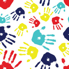 Autism Handprint Seamless Tile