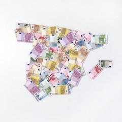 mappa spagna banconote euro