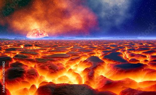Fototapeten,vulkan,glühen sie,brennen,eschbach