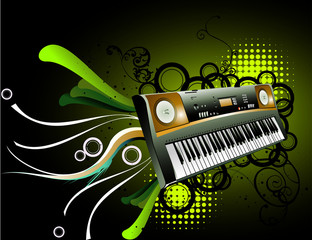 Keyboard vector composition