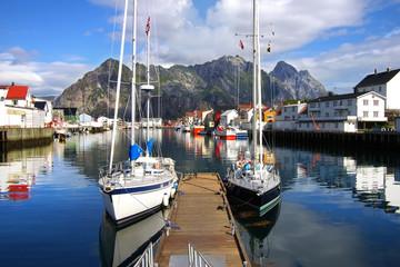 Picturesque Norway landscape. Lofoten Islands