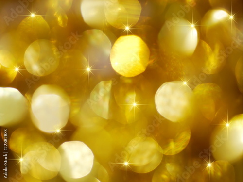 Large golden holiday lights background