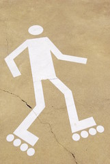 Rollerblading sign
