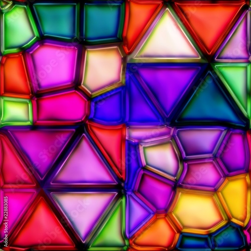 Panel Szklany multicolour stained glass seamless texture