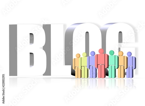 3D illustration of blog icon