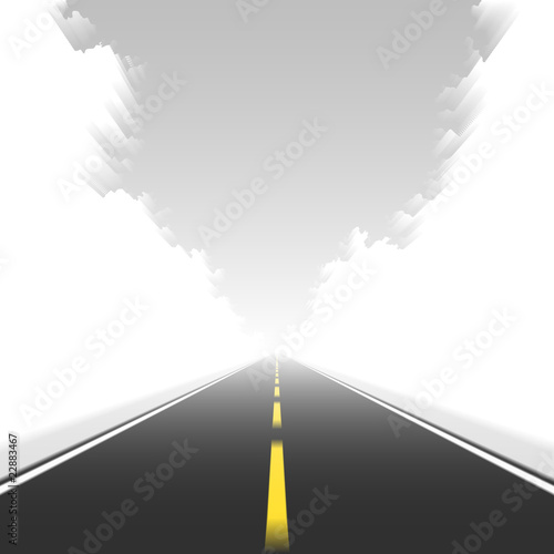 Straight road in motion. Vector.