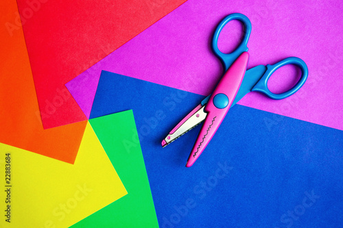 Color paper & scissors