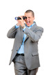 Businessman with a telescope