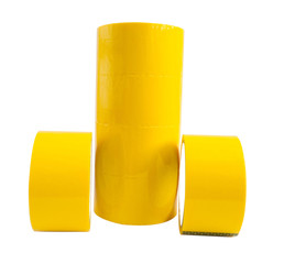 Yellow adhesive tape