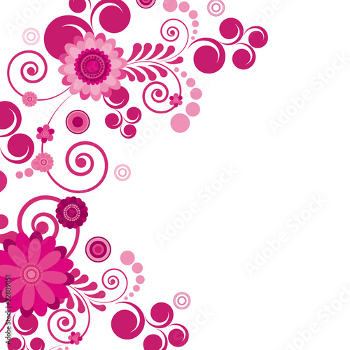 Vector. Abstract flowers background with place for your text.