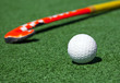 Leinwandbild Motiv hockey stick on the field