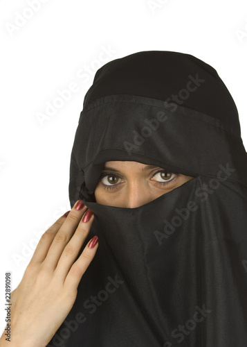 Beautiful Middle eastern woman in niqab veil