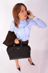Modern businesswoman with briefcase