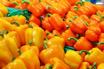 Orange capsicum for fresh summer salad