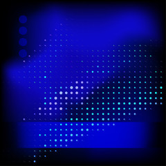 Abstract dotted dark blue template. Vector