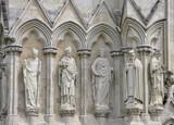 Detail of Salisbury Cathedral stonework Uk poster
