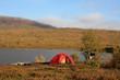 Abensonne und Zelt auf dem Kungsleden