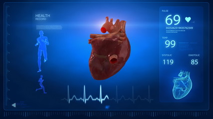 Human heart concept in loop
