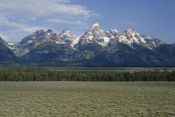 Grand Teton mountains from the Jackson hole
