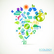 Modern ecology vector background