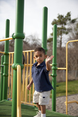 Multi-racial boy at the playground