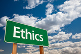 Ethics Green Road Sign poster