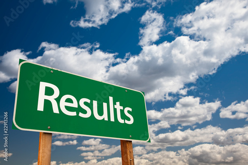 Results Green Road Sign