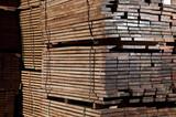 Stacks of hardwood poster