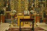 Trinity Cathedral in Pskov Kremlin. Internal interiors poster