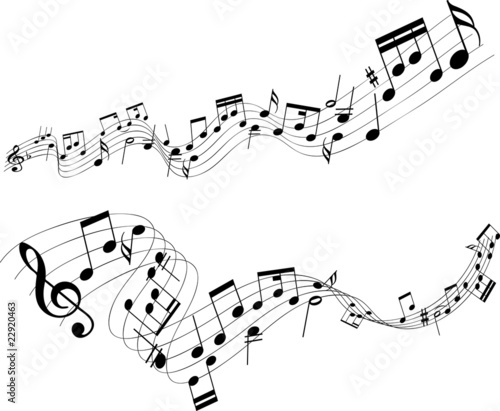 Abstract music notes - 22920463