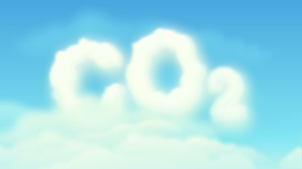 CO2 cloud in cloudy sky (move right to left)