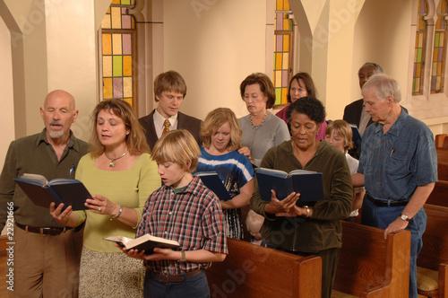 Singing Hymns in Church - 22921666