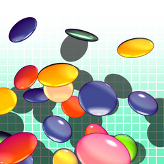 Graphical shaded illustration of candy