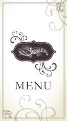 Menu template for restaurant