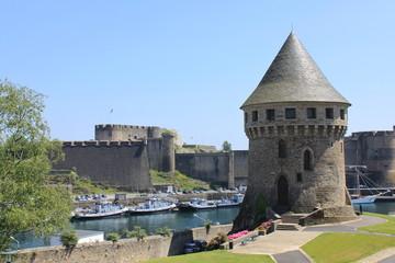Tour Tanguy et château à Brest - France