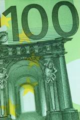 Banknote 100 Euros Ausschnitt