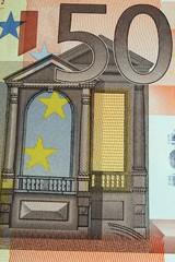 Banknote 50 Euros Ausschnitt