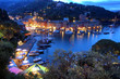 Quadro Portofino at night, Italy
