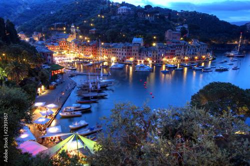 Portofino at night, Italy