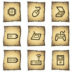 Electronics web icons set 2, papyrus series