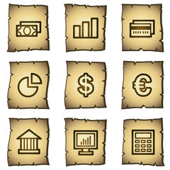Finance web icons set 1, papyrus series