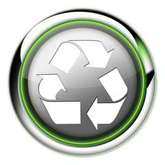 """Futuristic Button """"Recycling"""""""