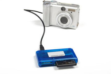 card reader and digital camera