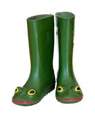 Rubber boots with eyes