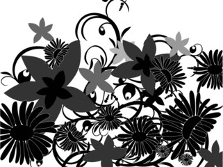 Flower's shilouettes